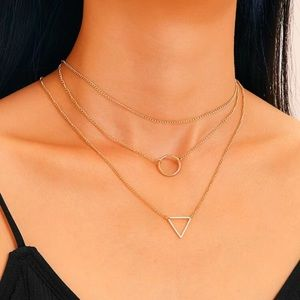🆕 3/$30 Geometric Charm Chain Necklaces